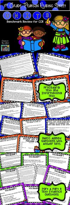 3rd Grade Pearson Reading Street Unit 3  Balanced Assessment Review - Help your students prepare for the Unit 3 CCR Balanced Assessment test with this review!