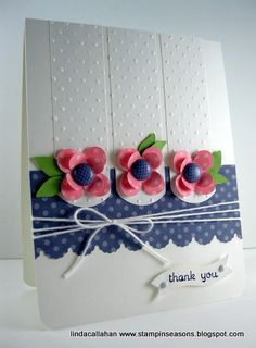 WELCOME TO THE REED RANCH! Handmade Greetings, Greeting Cards Handmade, Embossed Cards, Pretty Cards, Flower Cards, Paper Flowers, Creative Cards, Diy Cards, Scrapbook Cards