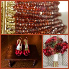 Red accents for a bold, beautiful wedding!