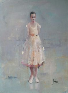 Oil painting by South African artist Sharleen Boaden available at Henry George Gallery South African Artists, Girls Bedroom, Bedrooms, Paper Dolls, Original Artwork, Little Girls, Ballet Skirt, Fine Art, Portrait