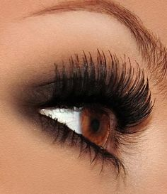 #BrownEyes can look stunning with false eyelashes, especially if you are trying to avoid the TOXIC chemicals found in drugstore #mascara's. Read this article for the perfect everyday eye makeup ideas with #FalseEyelashes. Whether you want a full strip of false lashes, partial lashes or individual lashes. http://minkilashes.org/perfect-everyday-eye-makeup-ideas-go-for-false-eyelashes/