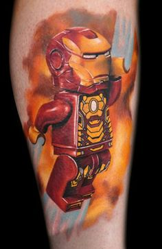 Lego Iron Man: Best in Convention winner of Tattoo Freeze, by Max Pnewski at Southmead Tattoo, UK