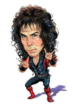 Ronnie James Dio Heavy Metal Singer Art Fridge Toolbox Magnet Size x Funny Caricatures, Celebrity Caricatures, Black Sabbath, Cartoon Faces, Funny Faces, James Dio, Heavy Metal Music, Rockn Roll, Rock Legends
