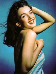 Marilyn Monroe is even beautiful with brown hair.