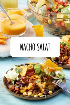 Nacho Salat If the cheese dip is too heavy for you, sour cream or a homemade guacamole goes well wit Salad Recipes Low Carb, Healthy Crockpot Recipes, Clean Eating Recipes For Dinner, Salad Recipes For Dinner, Nachos, Nacho Salat, Clean Eating Salate, Valeur Nutritive, Homemade Guacamole