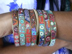 bangles made and sold by Nepalese women to help improve their lives.. love.