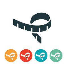 Tape Measure Icon - ilustração de arte em vetor