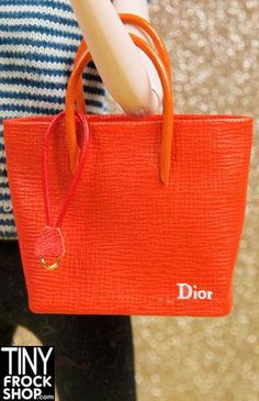 Barbie Dior Style Orange Tote Bag OOAK - BACK IN STOCK!