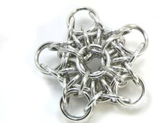 Star Christmas Ornament Chainmaille by TangledMetal on Etsy