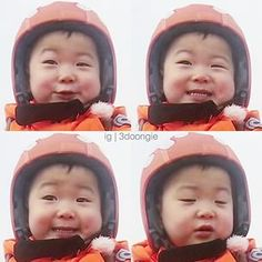 Instagram photo by 3doongie - 힘도 없떠 밍꾸꾸ㅋㅋㅋㅋㅋㅋ❤️❤️❤️❤️ • Korean Babies, Asian Babies, Cute Kids, Cute Babies, Superman Baby, Song Daehan, Song Triplets, Miss You Guys, Baby Alive