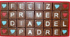 mensaje de chocolate o chocomensaje para día del padre www.palermodulce.com.ar