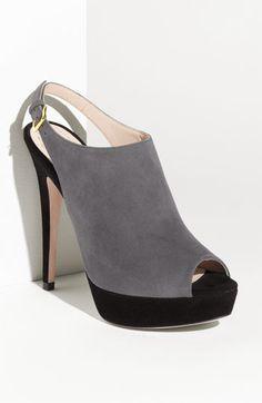 grey slingback booties