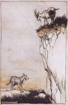 arthur rackham fairies | Mere Snippets: Grimm's Fairy Tales: The Wolf and the Seven Young Kids