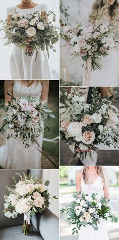 20 Gorgeous and Trendy Greenery Wedding Bouquets - EmmaLovesWeddings - Hochzeitsblumen Blush Wedding Flowers, Floral Wedding, Wedding Colors, Green Wedding, Wedding Greenery, November Wedding Flowers, Wedding Flower Arrangements, Floral Arrangements, Blush Bouquet