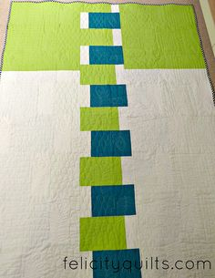 Quilt back : Land and Sea for Siblings Together by felicity.quilts, via Flickr