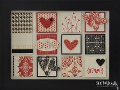 'Love Letters' Framed Art handmade by Sue Wdowik - Independent Stampin' Up! Demonstrator. www.nighnighbirdie.blogspot.com