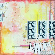 #papercraft #scrapbook #layout.  Happy girls by crusty at @Studio_Calico