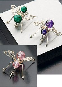 Buzzy Beas Scatter Pins - e-project available at interweavestore.com