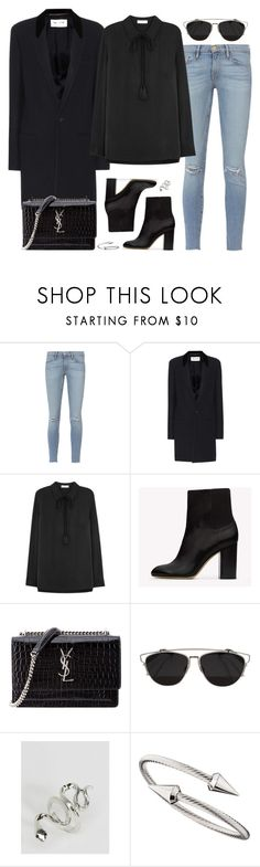 """""""Untitled #2970"""" by briarachele on Polyvore featuring Frame, Yves Saint Laurent, Equipment, rag & bone, Christian Dior, ASOS and Jules Smith"""