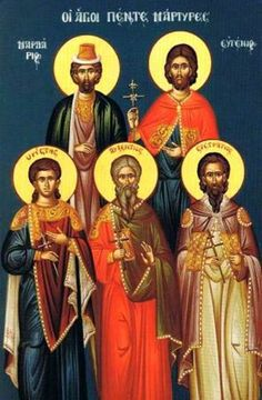 The Holy Martyrs Eustratius, Auxentius, Eugene, Mardarius, & Orestes of Greater Armenia they worshipped Christ in secret; during the persecution of Diocletian, they presented themselves before the Forum authorities,& having been tormented in diverse manners,by Lysius the proconsul, 3 of them ended their lives in torments. Sts Eustratius & Orestes,they survived & were sent to Sebastia to Agricolaus, who governed the whole East;by his command these Sts, received their end as martyrs by fire in…