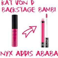 Kat Von D Backstage Bambi dupe NYX Addis Ababa