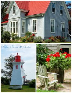 Like The Red Roof With Light Gray House Color.