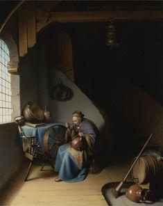 Woman Eating Porridge, 1632-1637  Gerrit Dou -