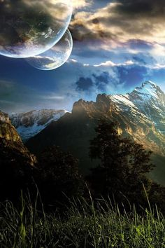 Beautiful fantasy landscape