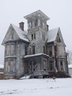 Abandoned Places Four walls, a Door, and a Roof Abandoned Victorian Home in Coudersport, PA Abandoned Mansion For Sale, Old Abandoned Buildings, Abandoned Castles, Old Buildings, Abandoned Places, Old Mansions, Mansions For Sale, Abandoned Mansions, Beautiful Buildings