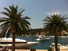 View from window at Hotel Riva, Hvar, Croatia - photo taken by Sacha