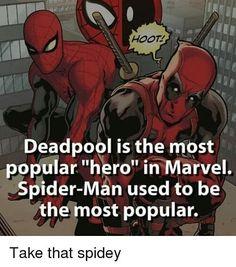 Ew.... deadpool loves to play dead in the pool. Haha