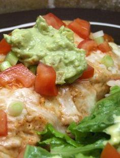 Creamy Chicken Enchiladas Recipe | RecipeGirl.com