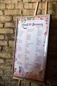 Shady & Jermyn   October 12, 2014   Event Planning: Sara Baig Designs   Photo: Found In Love   Majestic Garden Wedding Decor Seating Chart