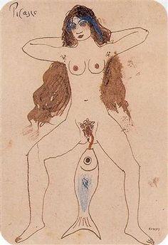 Pablo Picasso - The Mackerel, 1903