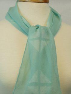 Women's Hand Dyed Shibori Scarf Silk Chiffon by FlingamoScarves, $30.00