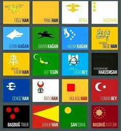 Bazı TÜRK devletleri ve kurucuları Turkey History, Turkish People, Flags Of The World, Ottoman Empire, Coat Of Arms, Historical Photos, Herb, Symbols, Culture
