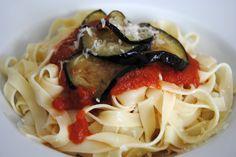 Desde Sicilia un estupendo plato de pasta.