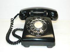 Vintage Rotary Telephone Stromberg Carlson Black Desk Phone Telephones Retro