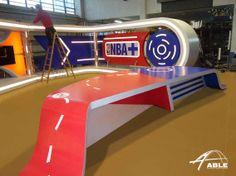 Plato del NBA, Canal + Fabricado y montado por Able.