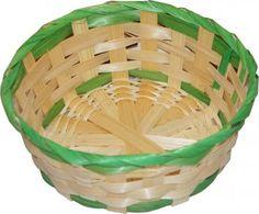 RZOnlinehandel - Osterkorb ca. 19 cm rund Natur/Grün Wicker Baskets, Home Decor, Basket, Round Round, Easter Activities, Decorating, Nature, Decoration Home, Room Decor