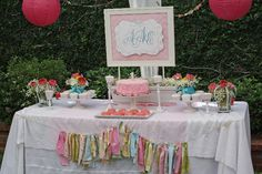 Magnolia Creative Co.: Shabby Chic First Birthday Party