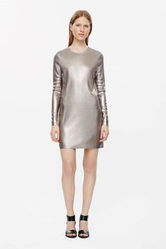 COS | Metallic coated dress