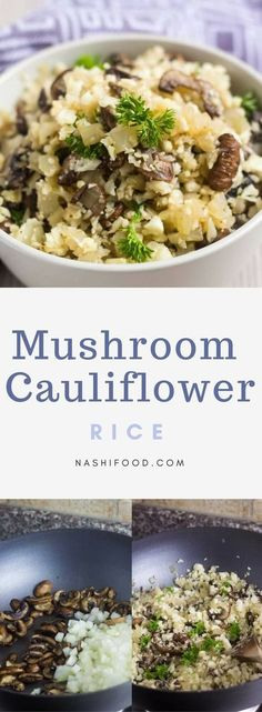 Mushroom Cauliflower Rice is a low carb alternative, and a great side dish ready in 15 minutes Cauliflower Rice Mushroom Cauliflower Rice is a low carb alternative, and a great side dish ready in 15 minutes Keto Side Dishes, Side Dish Recipes, Low Carb Recipes, Cooking Recipes, Healthy Recipes, Rice Recipes, Vegetable Side Dishes, Vegetable Recipes, Vegetarian Recipes