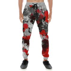 WUAI-Men Athletic Jogger Wrinkle-Free Sweatpants Lightweight Drawstring Elastic Waist Workout Running Jogger Pants