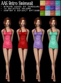 The Sims 2 | ZeroDark AAS Retro Swimsuit with Straps & Default Option AF