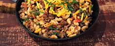 Mama's Hamburger Help-Me Meal by Carla Hall on The Chew.  Whip up this quick & delicious meal in no time!