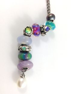 Trollbeads Fantasy Necklace featuring the bewitching Aurora Bead...
