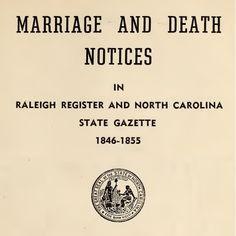North Carolina Family Records Online