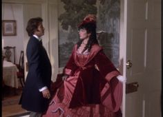Elkanah Bent and Ashton Main Huntoon in visiting clothes Parker Stevenson, Civil War Movies, Jonathan Frakes, Old Fashion Dresses, Kirstie Alley, North South, Southern Belle, Costume Design, Costumes