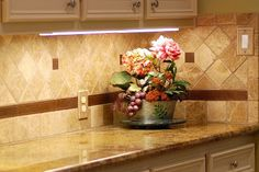 Tuscan-Style Kitchen Counter Top | tuscan style kitchen countertop this kitchen countertop and backsplash ...